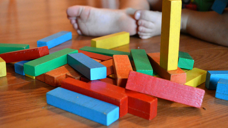 Child learning blocks